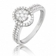 Кольцо Ренас в белом золоте с цветочком и бриллиантами