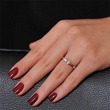 Золотое кольцо Изабелла в комбинированном цвете с бриллиантами