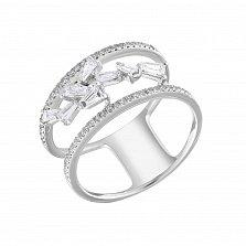 Кольцо из белого золота Дорин с бриллиантами
