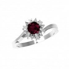 Серебряное кольцо Наоми с рубином