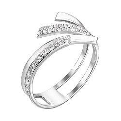 Кольцо из белого золота с фианитами 000099459