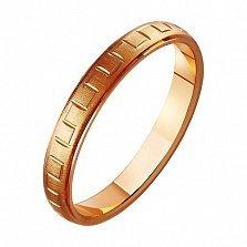 Золотое обручальное кольцо Романтичный момент