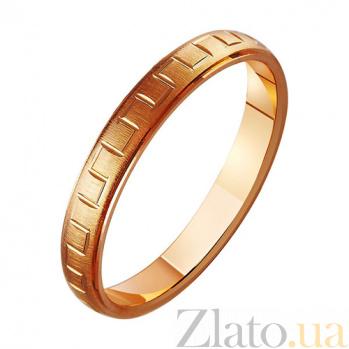 Золотое обручальное кольцо Романтичный момент TRF--411154