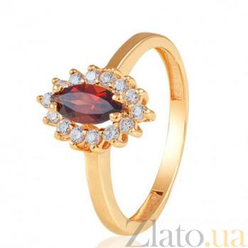 Золотое кольцо с гранатом Сантьяго EDM--КД4029ГРАНАТ