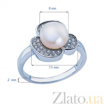 Серебряное кольцо с фианитами Жемчужная радость AQA--R00741PW