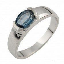 Серебряное кольцо Келли с лондон топазом