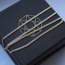 Золотая цепочка с алмазной гранью Версаль