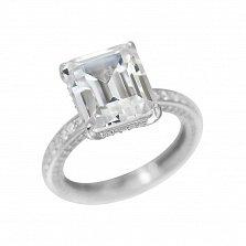 Серебряное кольцо Ингрид с кристаллами циркония