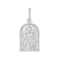 Ладанка серебряная Богородица Иверская 000145973