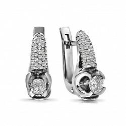 Серьги из белого золота Айвори с бриллиантами