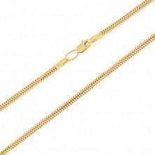 Цепочка из желтого золота Мальта в плетении снейк, 1мм