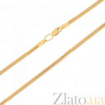 Цепочка из желтого золота Мальта в плетении снейк, 1мм 000079990