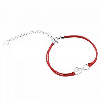 Шелковый браслет с серебром 000099321