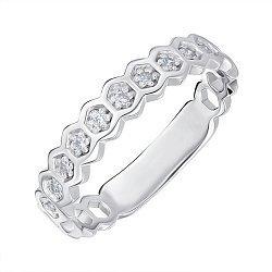 Кольцо из серебра с фианитами 000144060