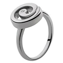 Серебряное кольцо с бриллиантами Luna