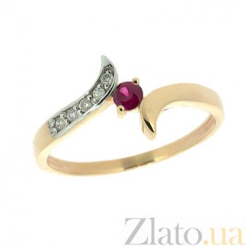 Кольцо из красного золота с рубином и бриллиантами Кристианна ZMX--RR-6274_K