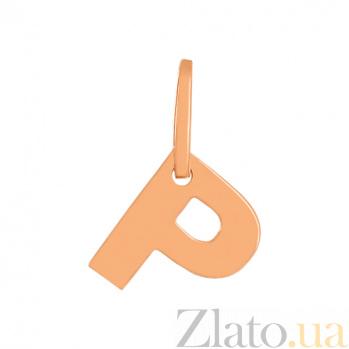 Золотая подвеска буква Р VLN--314-1743