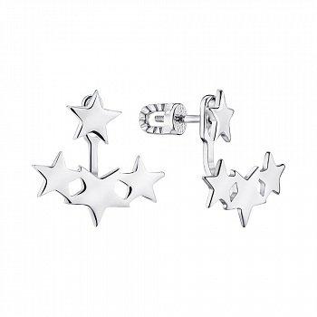 Серебряные серьги-джекеты 000148768