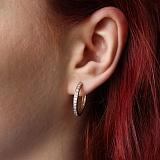 Золотые серьги-кольца Аделин с цирконием