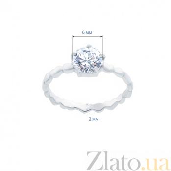 Серебряное кольцо с куб. цирконом Веста AQA--211550024