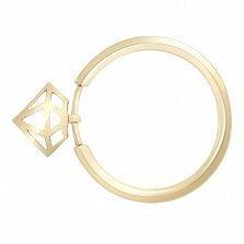 Кольцо из желтого золота с подвеской Diamond