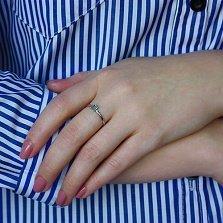 Кольцо в белом золоте Лаура с голубым топазом
