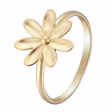 Кольцо в желтом золоте Вилена с эмалью