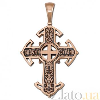 Крестик из золота Возрождение HUF--11483-Ч