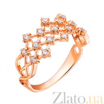 Золотое кольцо с цирконием Диадема EDM--КД0140
