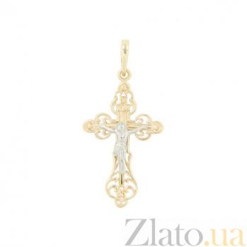Золотой крестик Вечность 2П071-0012