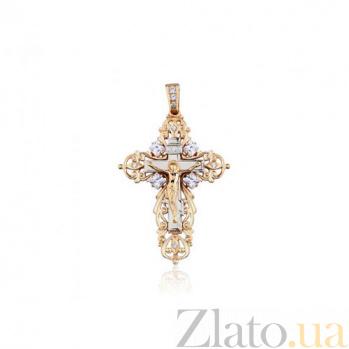Массивный золотой крест Покаяние  EDM--КР0133