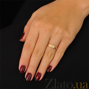 Золотое обручальное кольцо Стиль любви 000001654