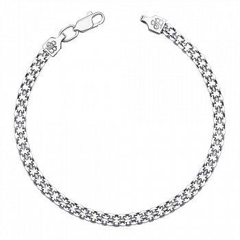 Серебряный браслет в плетении двойной якорь, 4 мм 000118111