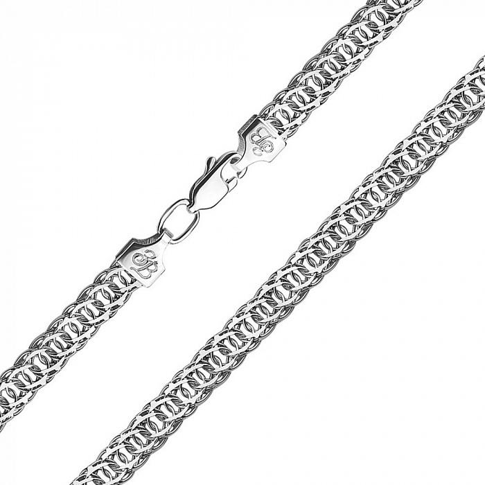 Серебряный браслет в плетении королевский бисмарк 000133680 000133680