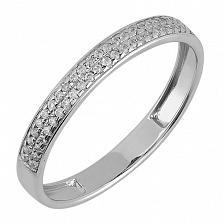 Обручальное золотое кольцо Beauty с фианитами в белом цвете
