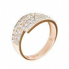 Кольцо из красного золота Соблазн с бриллиантами