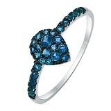 Кольцо из белого золота с лондон топазами Blue passion