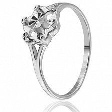 Серебряное кольцо Цикламен