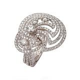 Золотое кольцо с бриллиантами Звездная галактика