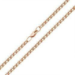 Браслет из красного золота в плетении арабский бисмарк, 2 мм 000002337