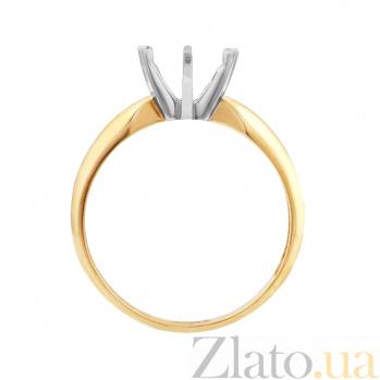Заготовка золотого кольца под бриллиант 1,5 ct EDM--КД7557