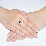 Кольцо с белыми и чёрным фианитами Чипа