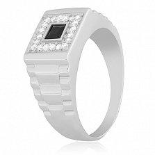 Перстень из серебра с ониксом Стиль и Статус