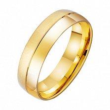 Золотое обручальное кольцо Современность и классика