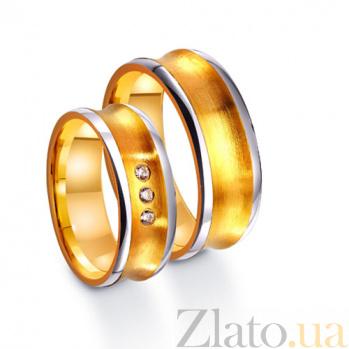 Золотое обручальное кольцо Источник радости с тремя фианитами TRF--4421672