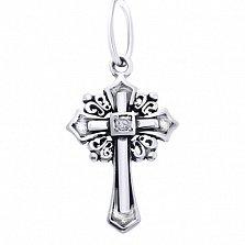 Серебряный крестик без распятия Свет