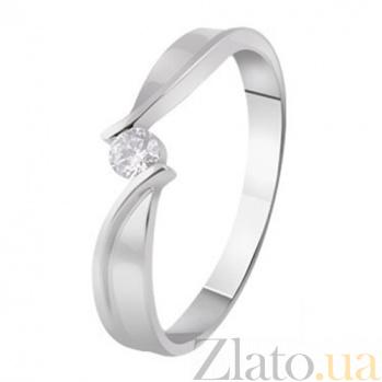 Кольцо из белого золота с бриллиантом Нонна KBL--К1008/бел/брил
