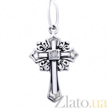 Серебряный крестик без распятия Свет AUR--74062б