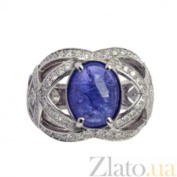 Золотое кольцо с бриллиантами и сапфиром Faina ZMX--RDS-00215w