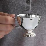 Серебряная кофейная чашка Изящество, 75мл